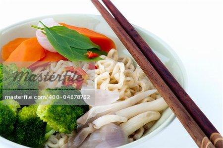 Japanese Ramen Noodles, serve with chopsticks