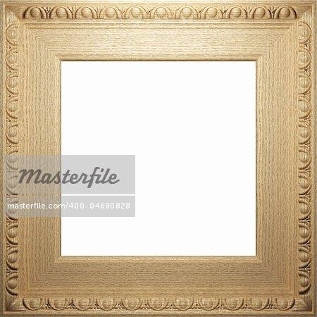 wooden antique frame made 3 D graphics