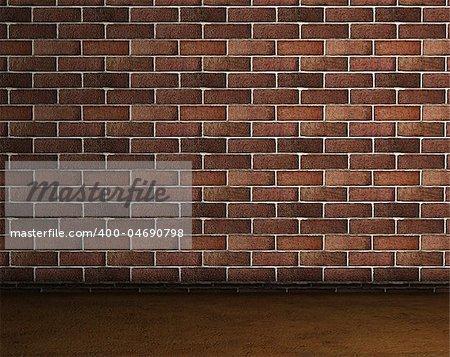 Frontal image of a brick wall