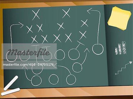 Vector - Teamwork Football Game Plan Strategy
