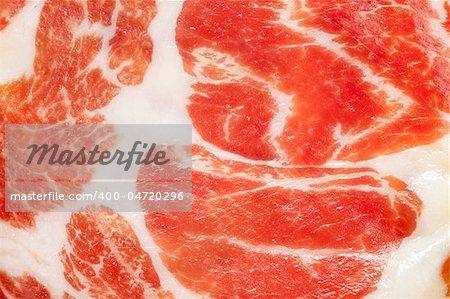 photo shot of dried ham background
