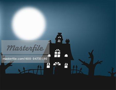 Halloween night, perfect illustration for Halloween holiday
