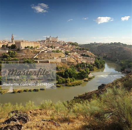 panoramic view of Toledo in Spain