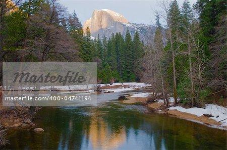 Half Dome at dusk, Yosemite National Park, California