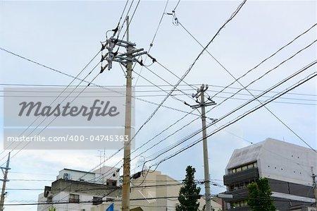 power line in Japan