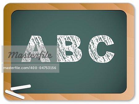 Vector - Chalk Alphabet on Blackboard