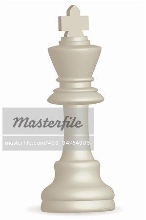 illustration of chess king on white background