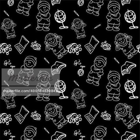 Back to School seamless Background pattern wallpaper blackboard, fake paper