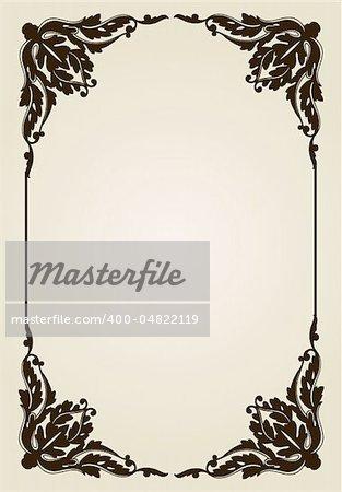 vector vintage frame vector illustration ornament decorative