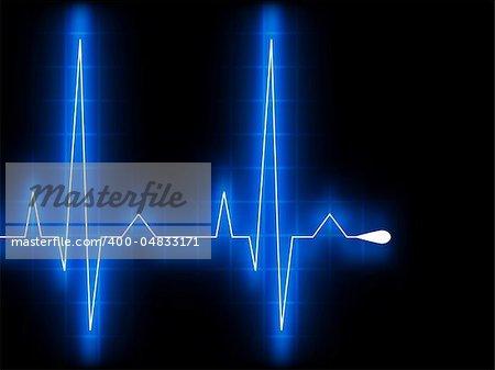 Blue heart beat. Ekg graph. EPS 8 vector file included