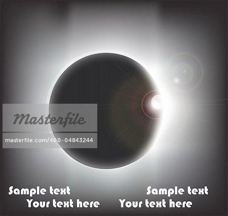 Eclipse, vector illustration