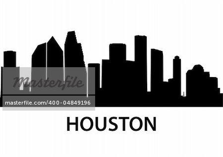 detailed illustration of Houston, Texas