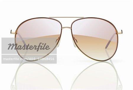 Vector illustration of stylish aviator sunglasses with reflection
