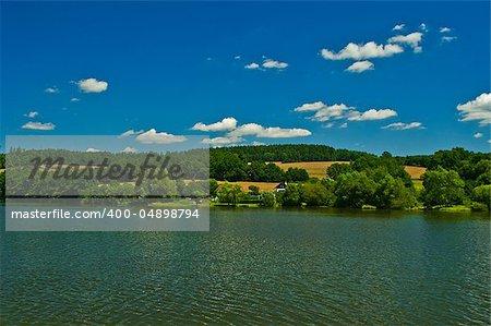 nice landscape on summery day