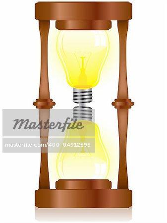 Vector - Creativity Hourglass with Light Bulb
