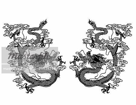 computer graphic background art wallpaper -- dragon