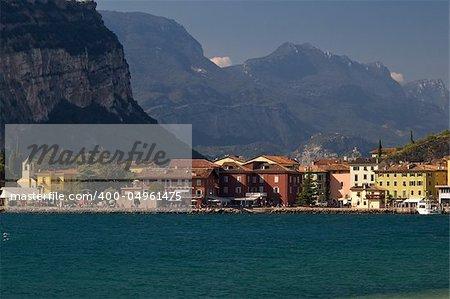 A nice view of Torbole (garda lake, Italy)
