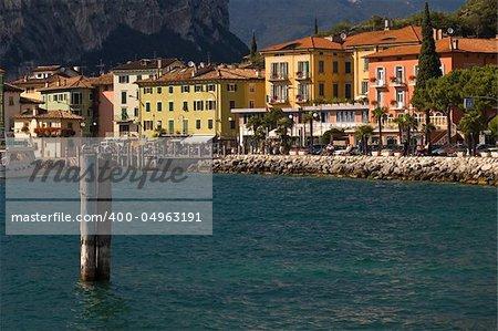 A wide angle view of Torbole (garda lake, Italy)