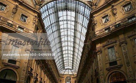 Galleria Vittorio Emanuele II roof Milan Italy