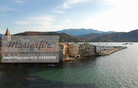 St. Florent, little village on Corsica,France.