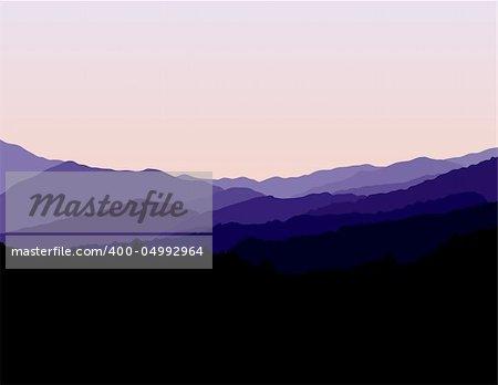 Blue Ridge Mountains Landscape
