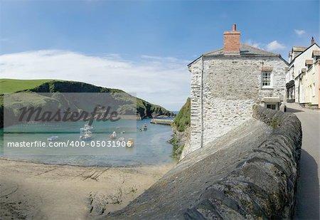 The harbour, the cornish coast at port isaac cornwall england uk.