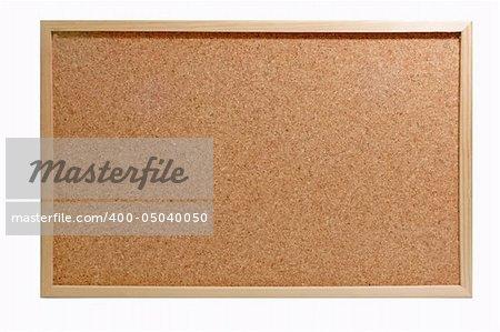 Emtyto the corkboard  isolated on white Background.