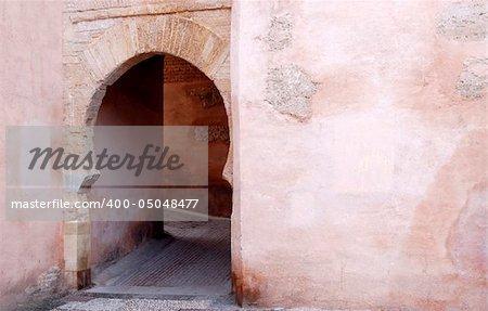 Arabic arch door in Granada