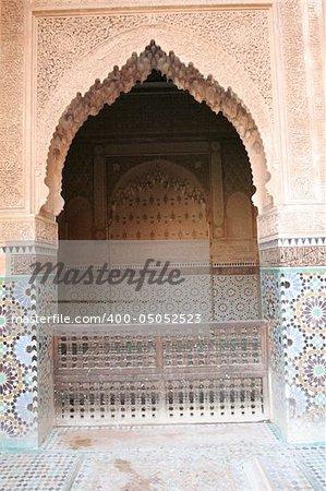 Doorway in Marrakech, Morocco, Africa. One of most popular travel destinations.