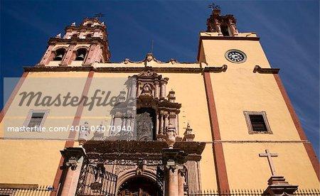 Steeples, Door, Front, Basilica of our Lady of Guanajuato, Basilica De Nuestra Senora De Guanajuato, Mexico
