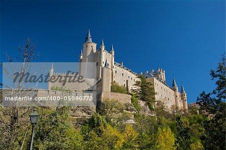 big castle at segovia city spain