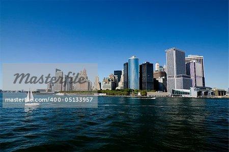 New York City, Lower Manhattan skyline