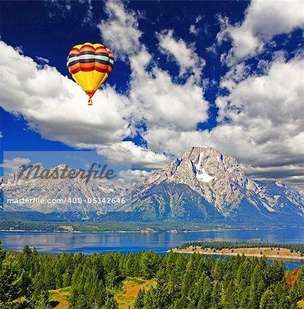 The landscape of Grand Teton National Park USA
