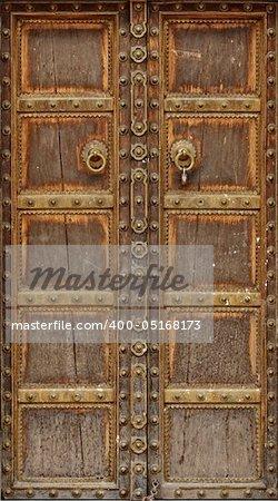 fine hi res image of ancient wood door  background
