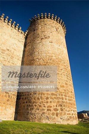 Barco village castle in avila spain