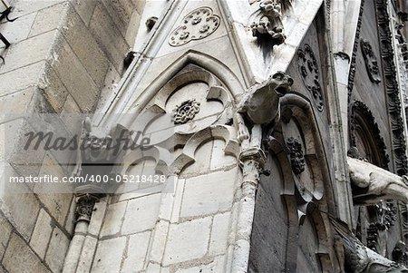 Notre Dame Cathedral gargoyles view, Paris, France