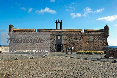 a view of Castillo de San Jose in Arrecife, Lanzarote, Canary Islands, Spain