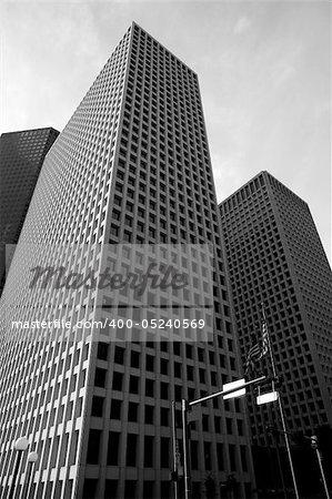 Downtown Houston Texas buildings urban city skyscrapers