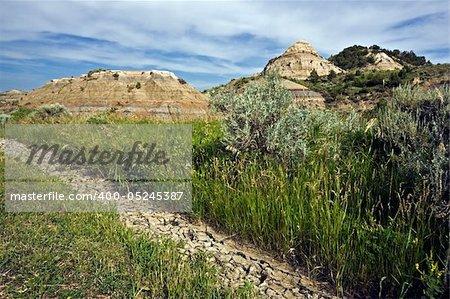 Badlands in Theodore Roosevelt National Park - North Dakota