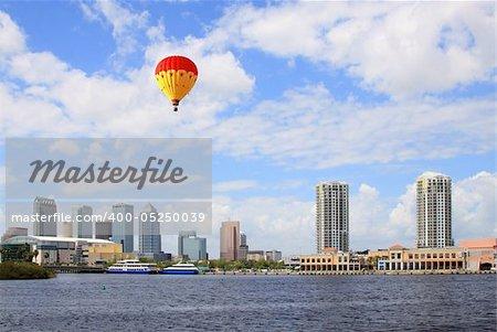 The city skyline of Tampa Florida USA