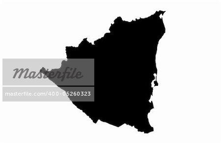 Republic of Nicaragua - white background