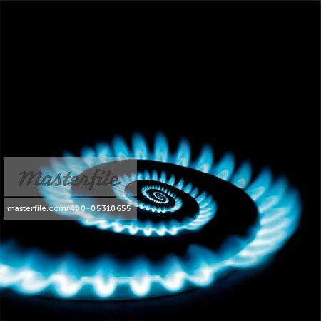 Conceptual vicious circle of energy crisis gas burner spiral loop