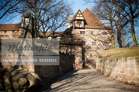 Kaiserburg, a part of Emperor's castle, Nuremberg, Germany - gate