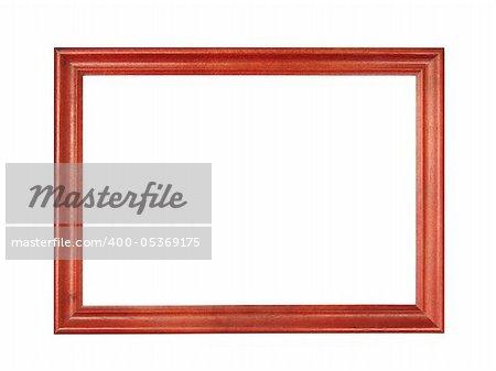 wood photo frame isolated on white