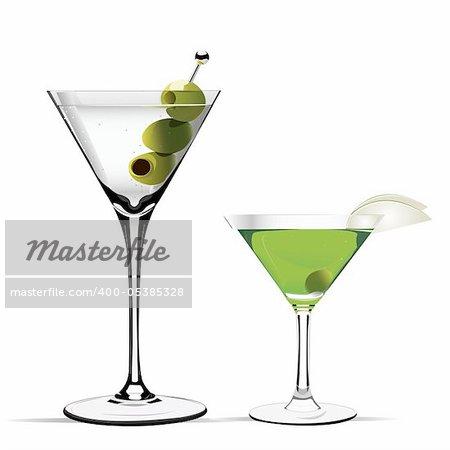 martini vector illustration