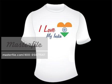 abstract indian love tshirt design vector illustration