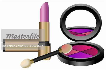 Cosmetics Set isolated on white background