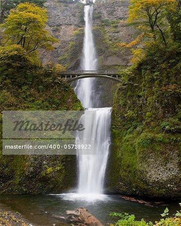 Multnomah Falls at Columbia River Gorge Oregon in Fall
