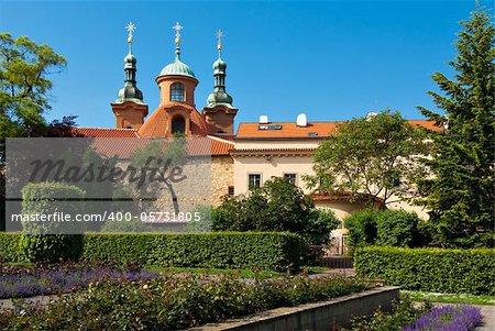 St. Lawrence Church on the Petrin hill, Prague, Czech Republic.