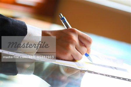 pen work hand work background
